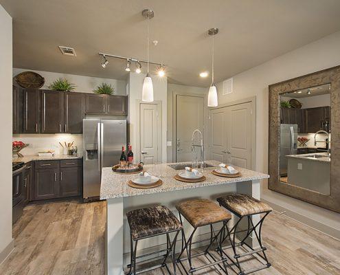 Kathy Andrews Interiors Multifamily Garden Style Interior Design SoCo at Tower Point 2B Kitchen