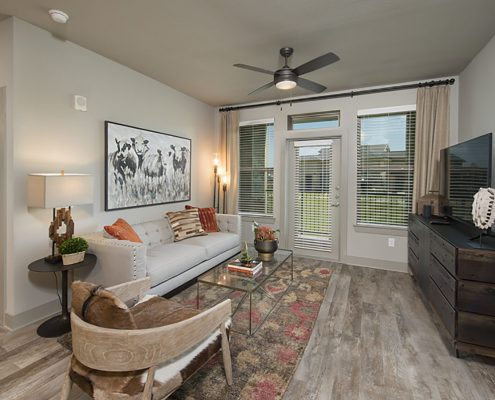 Kathy Andrews Interiors Multifamily Garden Style Interior Design SoCo at Tower Point 2B Living