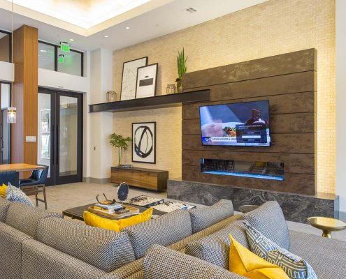 Kathy Andrews Interiors Domain New Forest Multifamily Leasing and Amenity Center Club Room 2