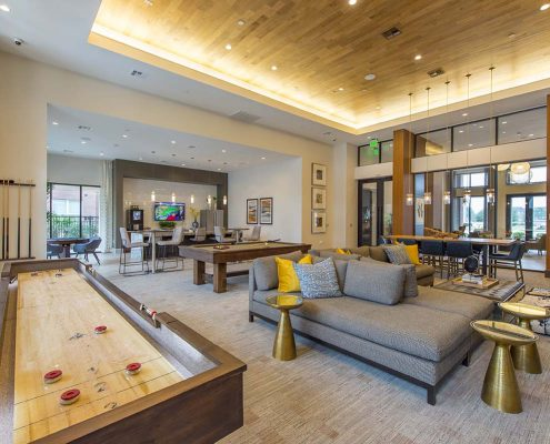 Kathy Andrews Interiors Domain New Forest Multifamily Leasing and Amenity Center Club Room