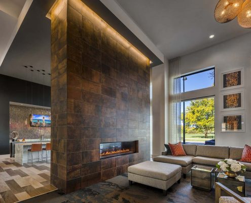 Kathy Andrews Interiors The Marling Multifamily Leasing and Amenity Center Club Room 2