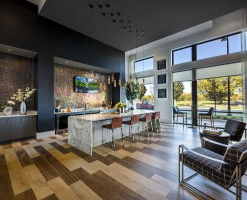 Kathy Andrews Interiors The Marling Multifamily Leasing and Amenity Center Club Room