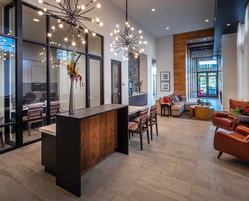 Kathy Andrews Interiors The Marling Multifamily Leasing and Amenity Center Leasing