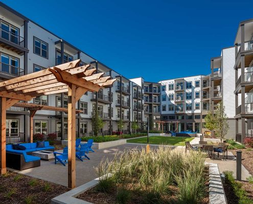 Kathy Andrews Interiors The Marling Multifamily Leasing and Amenity Center Outdoor