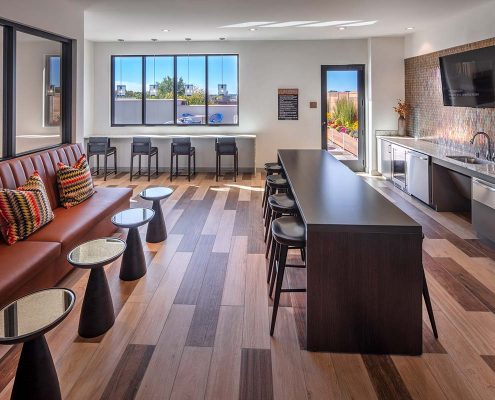 Kathy Andrews Interiors The Marling Multifamily Leasing and Amenity Center Sky Lounge