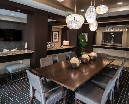 Kathy Andrew Interiors Multifamily Interior Design Leasing and Amenity Center Pearl Residences at CityCentre Clubroom 1 Cropped