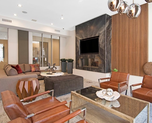 Kathy Andrews Interiors Multifamily Interior Design Leasing and Amenity Centers Woodmont Metro at Metuchen Station Club Room 3
