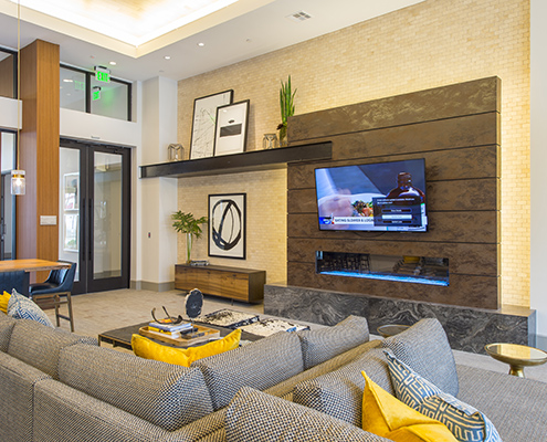 Kathy Andrews Interiors Domain New Forest Multifamily Leasing and Amenity Center Club Room 2 Cropped