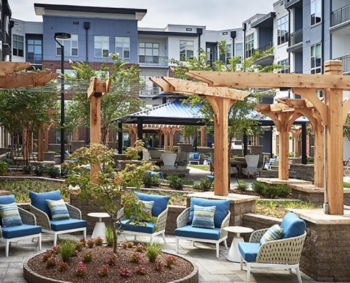 Kathy Andrews Interiors High Rise & Mid Rise Interior Design Multifamily Leasing and Amenity Center Inspire Outdoor 2