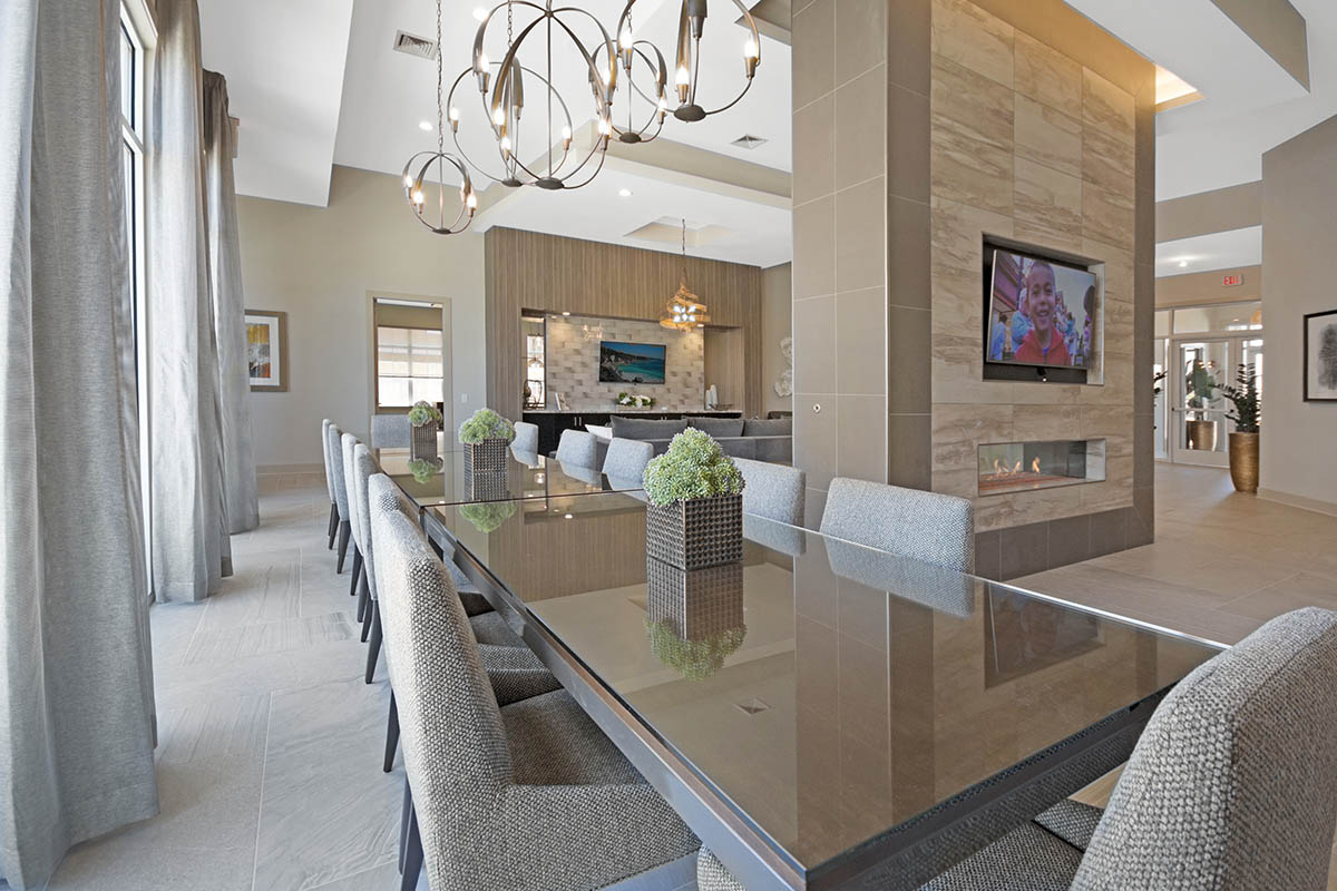 Kathy Andrews Interiors Multifamily Interior Design Leasing and Amenity Centers Woodmont Townsquare Club Room 2