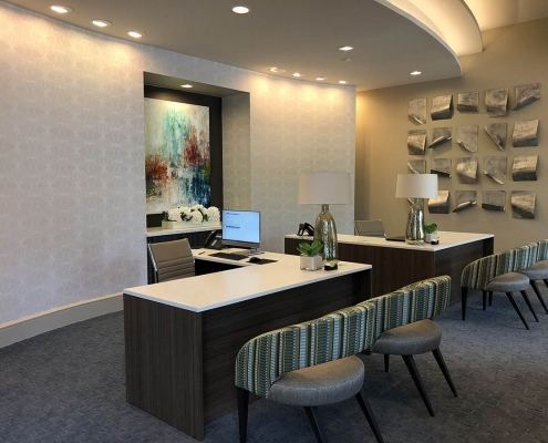 Kathy Andrews Interiors Parkside at Memorial Multifamily Leasing and Amenity Center Leasing Office