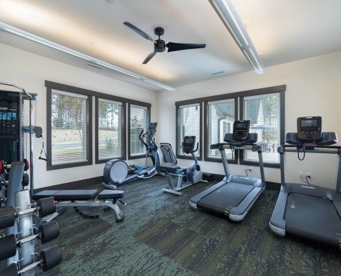 Kathy Andrews Interiors Active Adult Living Community Center Interior Design Encore at Briar Chapel Fitness
