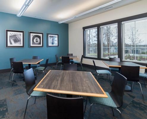 Kathy Andrews Interiors Active Adult Living Community Center Interior Design Encore at Briar Chapel Meeting Room