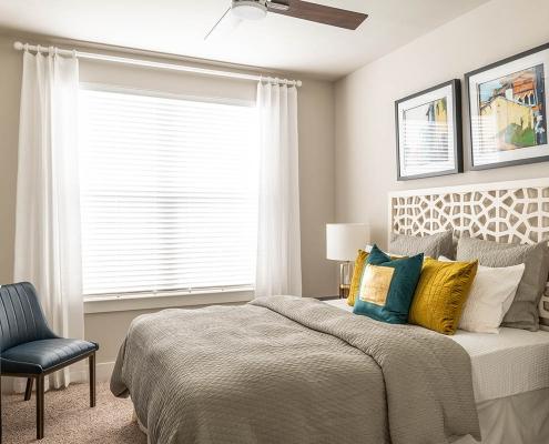 Kathy Andrews Interiors Multifamily Interior Design Broadstone Traditions Model Unit Bedroom