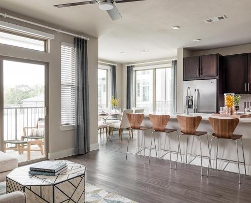 Kathy Andrews Interiors Multifamily Interior Design Broadstone Traditions Model Unit Kitchen