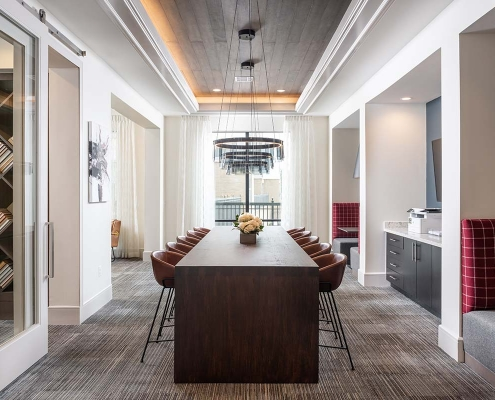Kathy Andrews Interiors Multifamily Interior Design Leasing and Amenity Center Broadstone Traditions Business Center