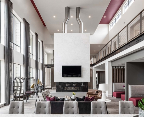 Kathy Andrews Interiors Multifamily Interior Design Leasing and Amenity Center Broadstone Traditions Clubroom