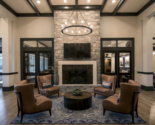 Kathy Andrews Interiors Multifamily Interior Design Leasing and Amenity Center The Park on Wurzbach Lobby