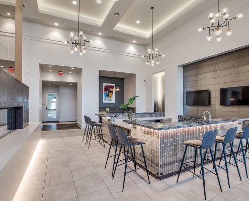 Kathy Andrews Interiors Multifamily High Rise and Mid Rise Interior Design Leasing and Amenity Center Alexan Exchange Club Room 2