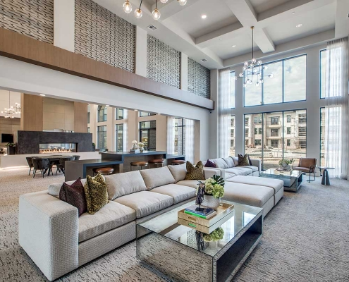 Kathy Andrews Interiors Multifamily High Rise and Mid Rise Interior Design Leasing and Amenity Center Alexan Exchange Club Room 3