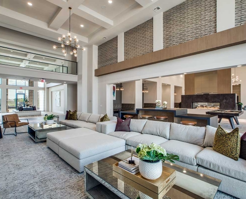 Kathy Andrews Interiors Multifamily High Rise and Mid Rise Interior Design Leasing and Amenity Center Alexan Exchange Club Room 4