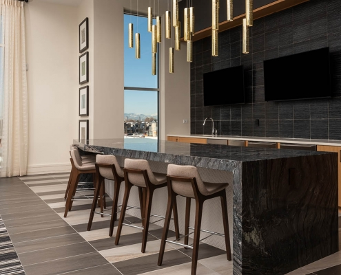 Kathy Andrews Interiors Multifamily Interior Design Leasing and Amenity Center Encore at Boulevard One Club Room 2