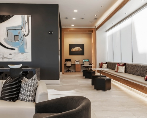 Kathy Andrews Interiors Multifamily Interior Design Leasing and Amenity Center Encore at Boulevard One Lobby 2