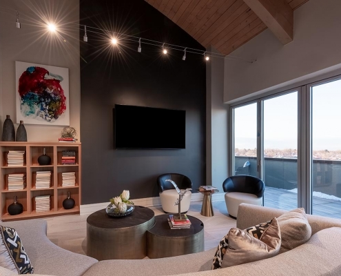 Kathy Andrews Interiors Multifamily Interior Design Leasing and Amenity Center Encore at Boulevard One Sky Lounge 2