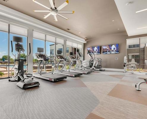 Kathy Andrews Interiors Multifamily Interior Design Leasing and Amenity Center Gateway Arvada Ridge Fitness