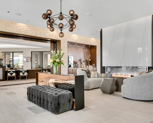 Kathy Andrews Interiors Multifamily Interior Design Leasing and Amenity Center Gateway Arvada Ridge Lobby