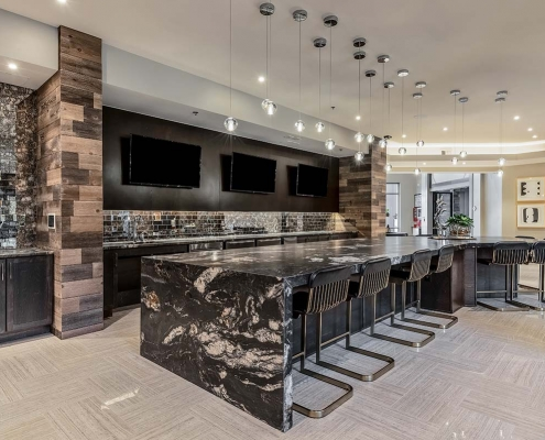Kathy Andrews Interiors Multifamily Interior Design Leasing and Amenity Centers Luxe at Mile High Club Room