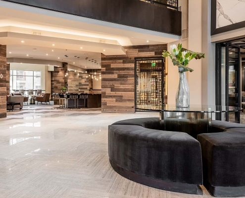Kathy Andrews Interiors Multifamily Interior Design Leasing and Amenity Centers Luxe at Mile High Lobby 2