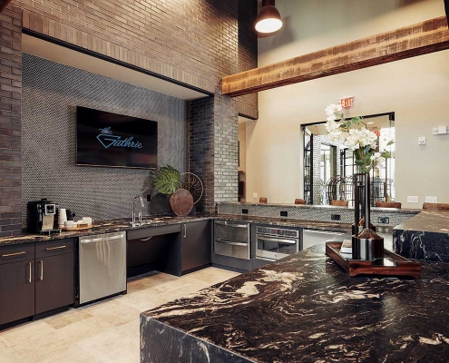 Kathy Andrews Interiors Multifamily Interior Design Leasing and Amenity Centers The Guthrie Club Room 2
