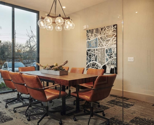 Kathy Andrews Interiors Multifamily Interior Design Leasing and Amenity Centers The Guthrie Conference Room