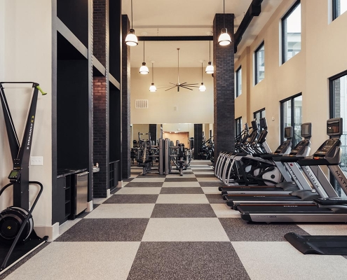 Kathy Andrews Interiors Multifamily Interior Design Leasing and Amenity Centers The Guthrie Fitness