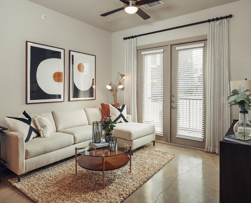 Kathy Andrews Interiors Multifamily Interior Design Model Units The Guthrie Living Room