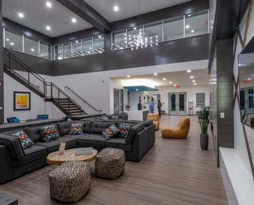 Kathy Andrews Interiors Student Housing Leasing and Amenity Center Interior Design The Domain at Corvallis Club Room 1