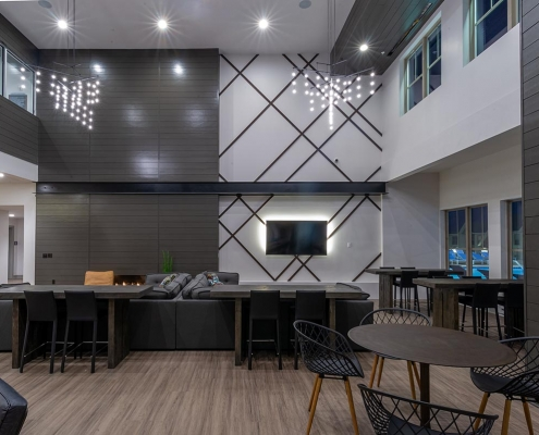 Kathy Andrews Interiors Student Housing Leasing and Amenity Center Interior Design The Domain at Corvallis Club Room 3