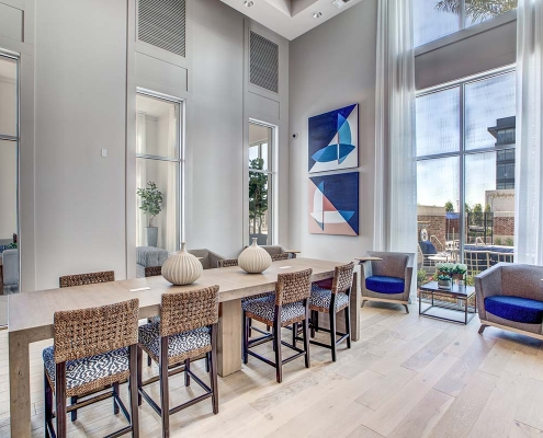 Kathy Andrews Interiors Multifamily High Rise and Mid Rise Interior Design Leasing and Amenity Center 255 Assay Business Center