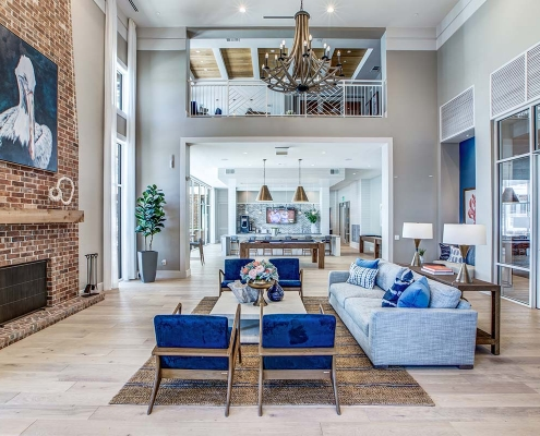 Kathy Andrews Interiors Multifamily High Rise and Mid Rise Interior Design Leasing and Amenity Center 255 Assay Club Room
