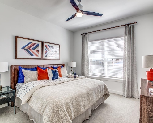 Kathy Andrews Interiors Multifamily High Rise and Mid Rise Interior Design Model Unit 255 Assay Bedroom 3