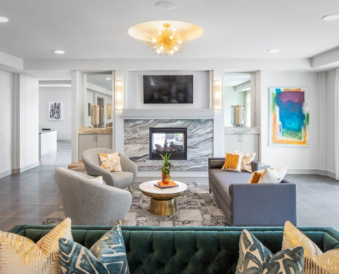 Kathy Andrews Interiors Multifamily Mid Rise and High Rise Interior Design Heights Waterworks Sky Lounge 3