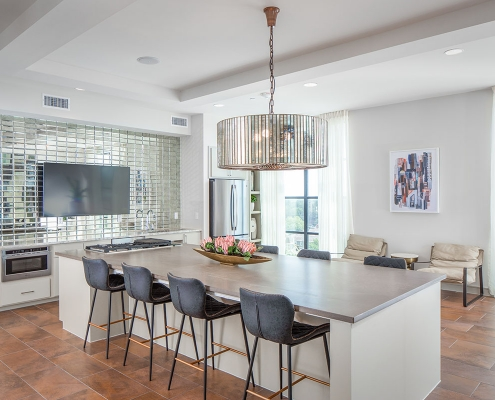 Kathy Andrews Interiors Multifamily Mid Rise and High Rise Interior Design Heights Waterworks Sky Lounge