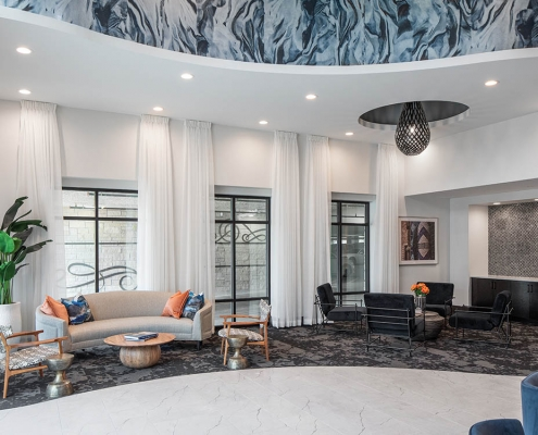 Kathy Andrews Interiors Multifamily Mid Rise and High Rise Interior Design 15th Street Flats Lobby