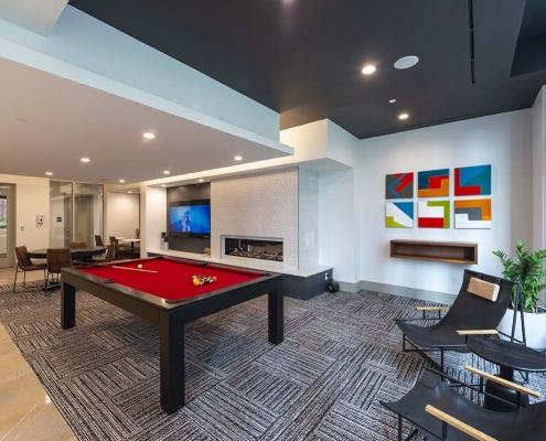 Kathy Andrews Interiors Student Housing Interior Design Aspire San Marcos Club Room 2