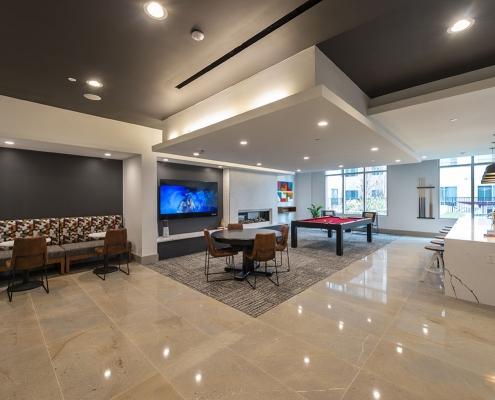 Kathy Andrews Interiors Student Housing Interior Design Aspire San Marcos Club Room
