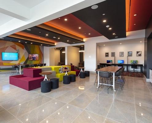 Kathy Andrews Interiors Student Housing Interior Design Aspire San Marcos Cyber Lounge