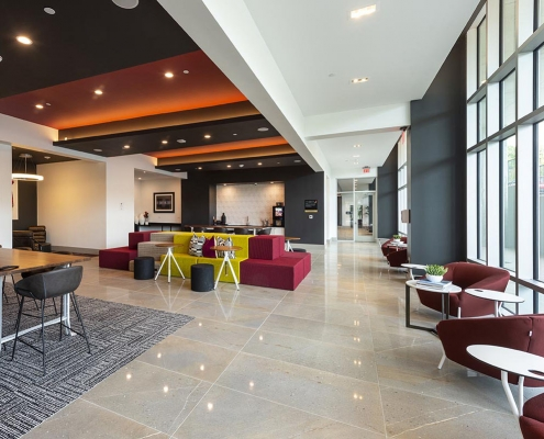 Kathy Andrews Interiors Student Housing Interior Design Aspire San Marcos Cyber Lounge 3 Cropped