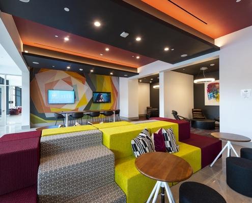 Kathy Andrews Interiors Student Housing Interior Design Aspire San Marcos Cyber Lounge 4