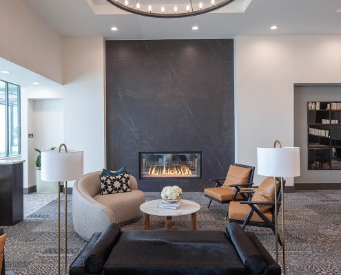 Kathy Andrews Interiors Multifamily Mid Rise and High Rise Interior Design 15th Street Flats Club Room Cropped